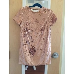 NWT Gold Sequin Forever 21 Dress